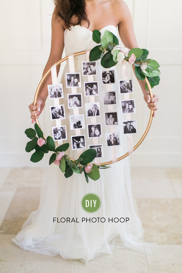 Floral Photo Hoop showing you weeding photos