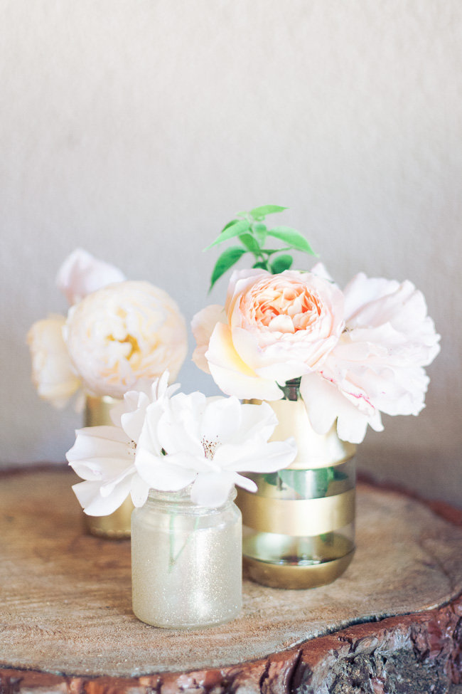 Gold and Glitter Vases