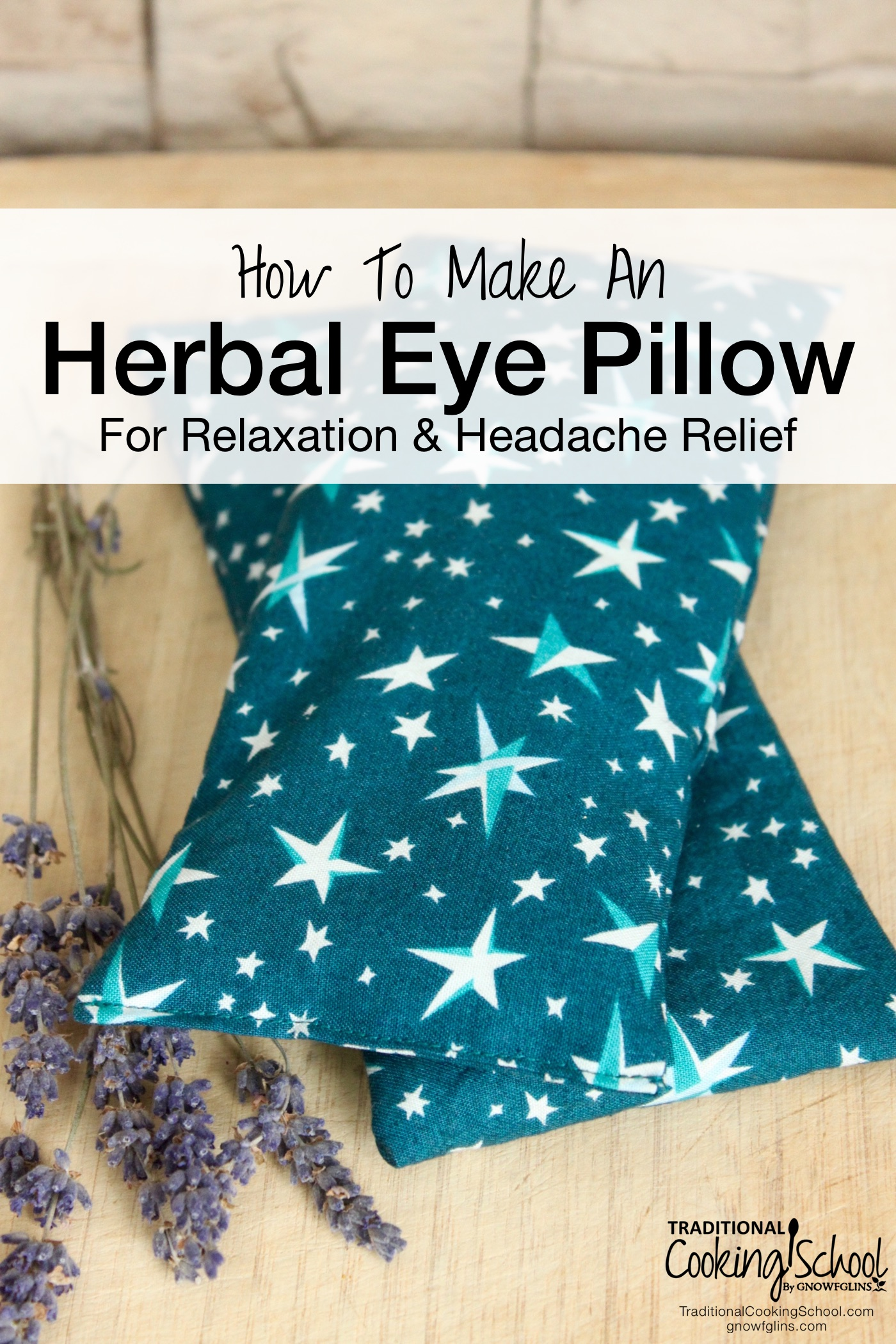Herbal Eye Pillow For Relaxation and Headache Relief