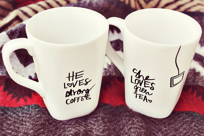His + Her Sharpie Mug