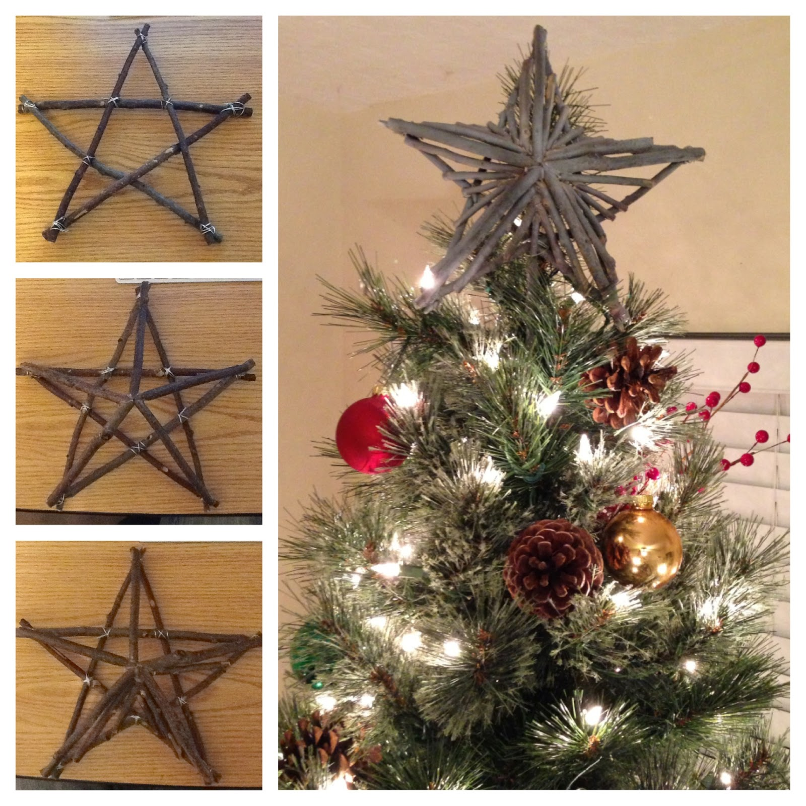 How To Make A Rustic Christmas Tree Topper Cute Diy Projects