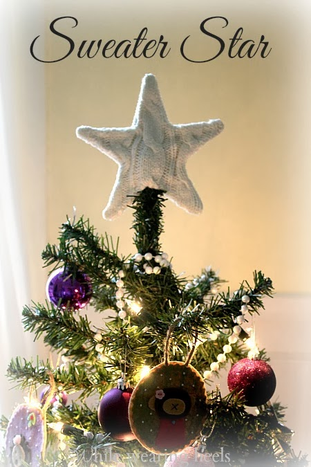 How To Make A Sweater Star Xmas Tree Topper Cute Diy Projects