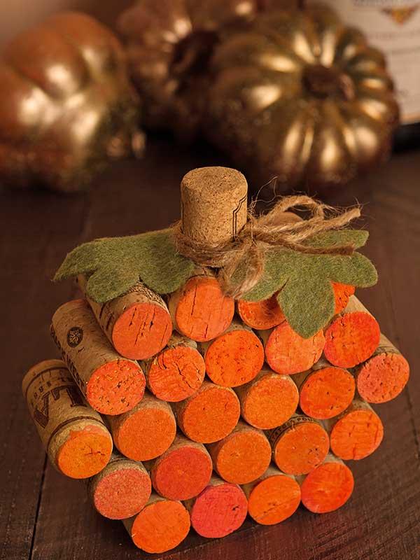How To Make A Wine-cork Pumpkin
