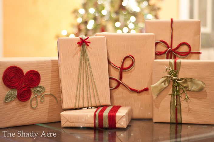 Inexpensive Gift Wrap Ideas Using Yarn