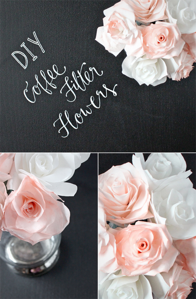 Making DIY Coffee Filter Flowers