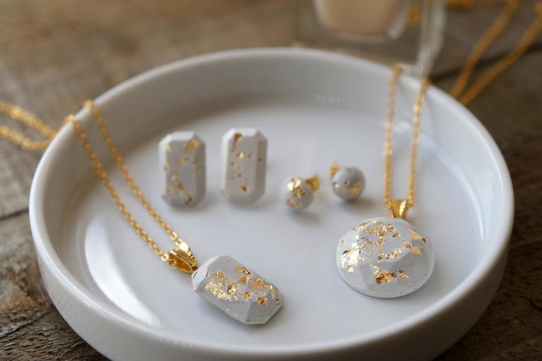 Minimalist Concrete Jewelery