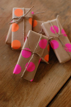 Neon Polka Dotted Favors