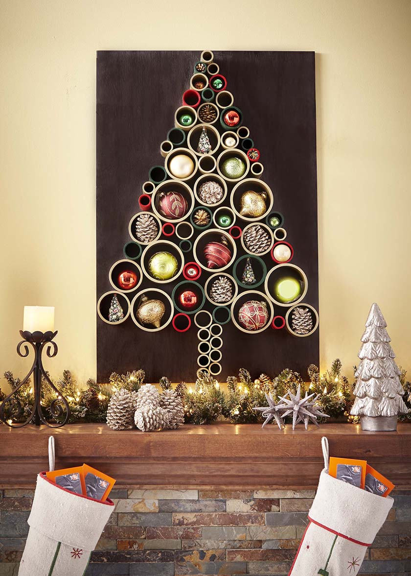 30 diy christmas tree ideas to go a little unconventional for Homemade tree decorations
