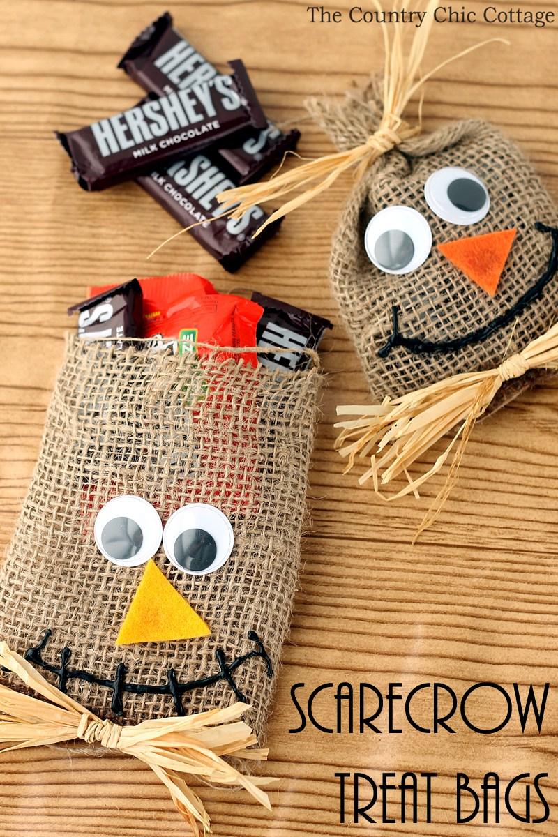 Scarecrow Halloween Treat Bags