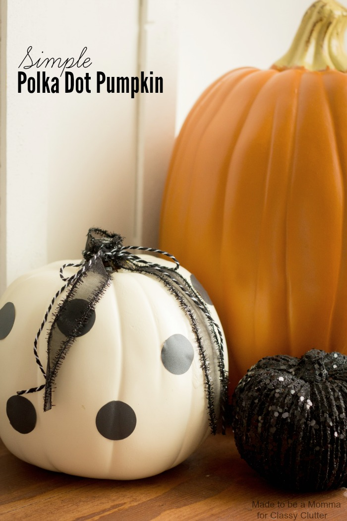 Simple Polka Dot Pumpkins