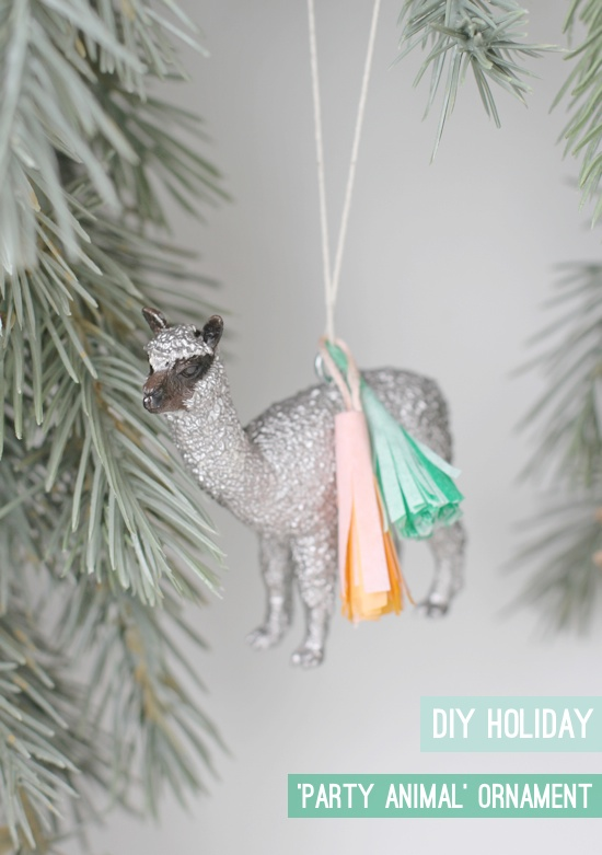 Tassled Party Animal Ornaments