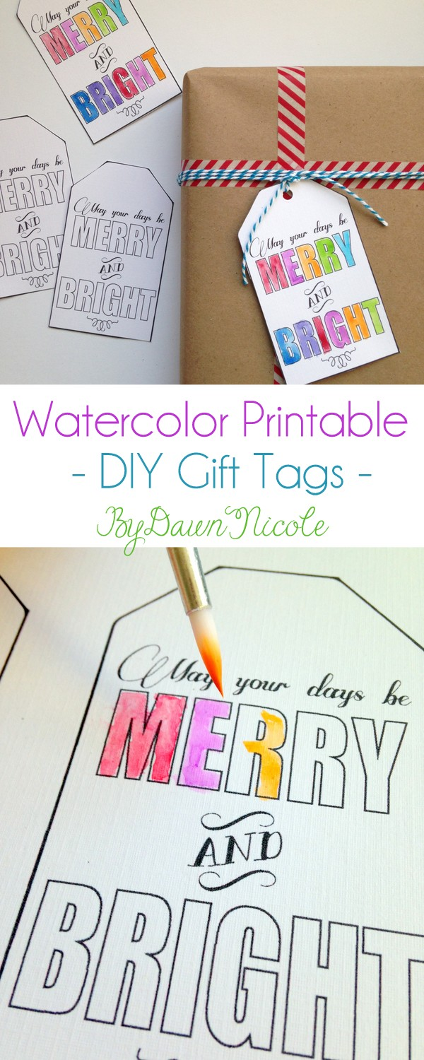 Watercolor Printable Gift Tags