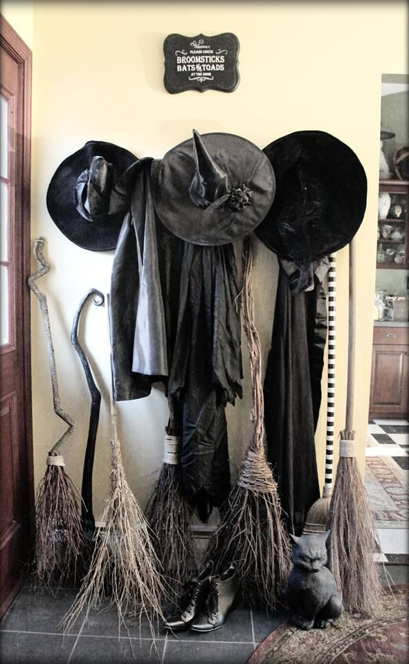 Witch and Broom Decor