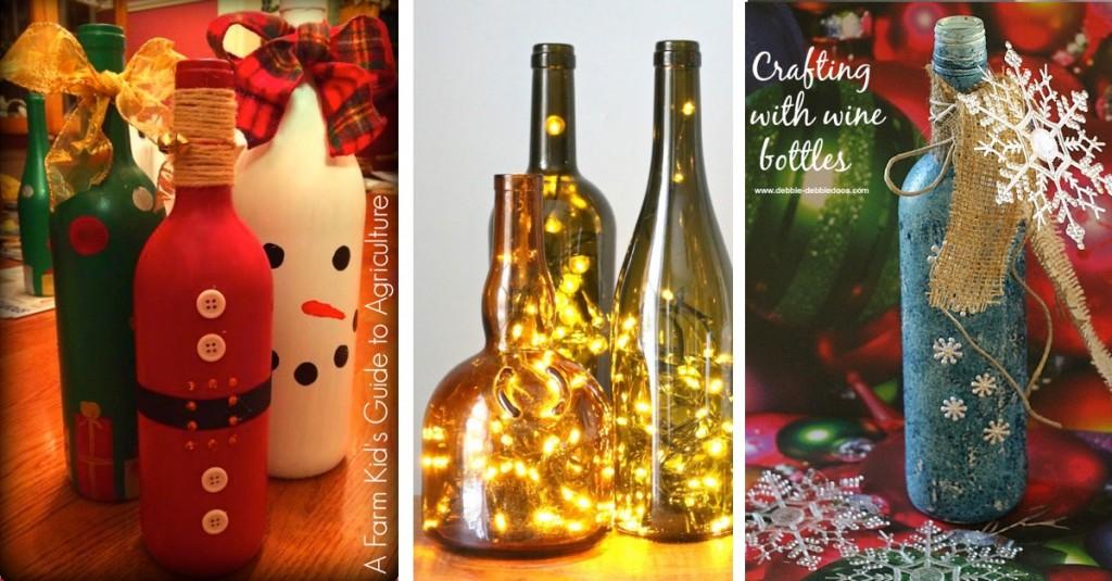 20 Wine Bottle Christmas Crafts