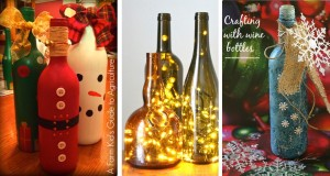 20 Wine Bottle Christmas Crafts