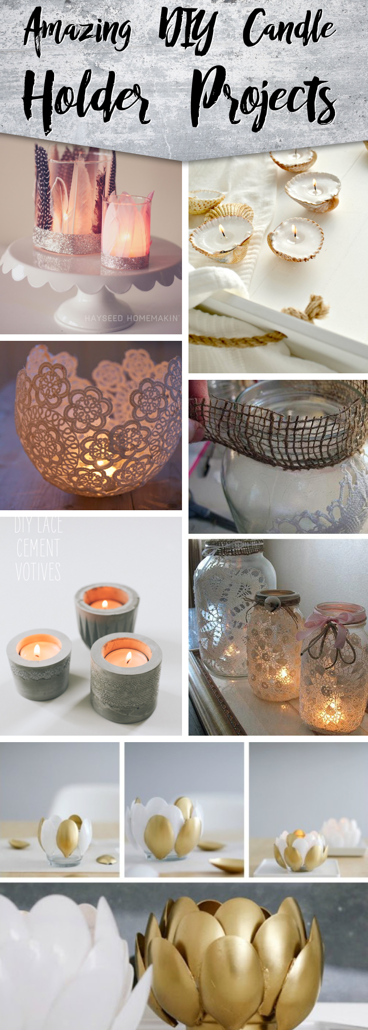 25 Amazing Diy Candle Holder Projects For Your Home Cute Diy Projects