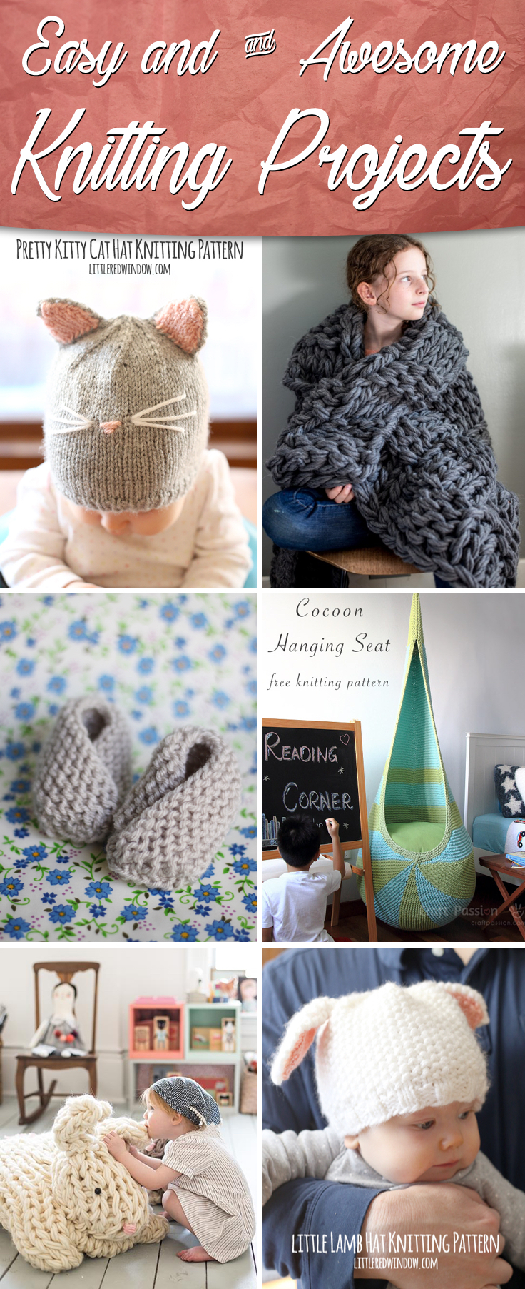 25 Incredibly Easy & Awesome Knitting Projects – Cute DIY Projects