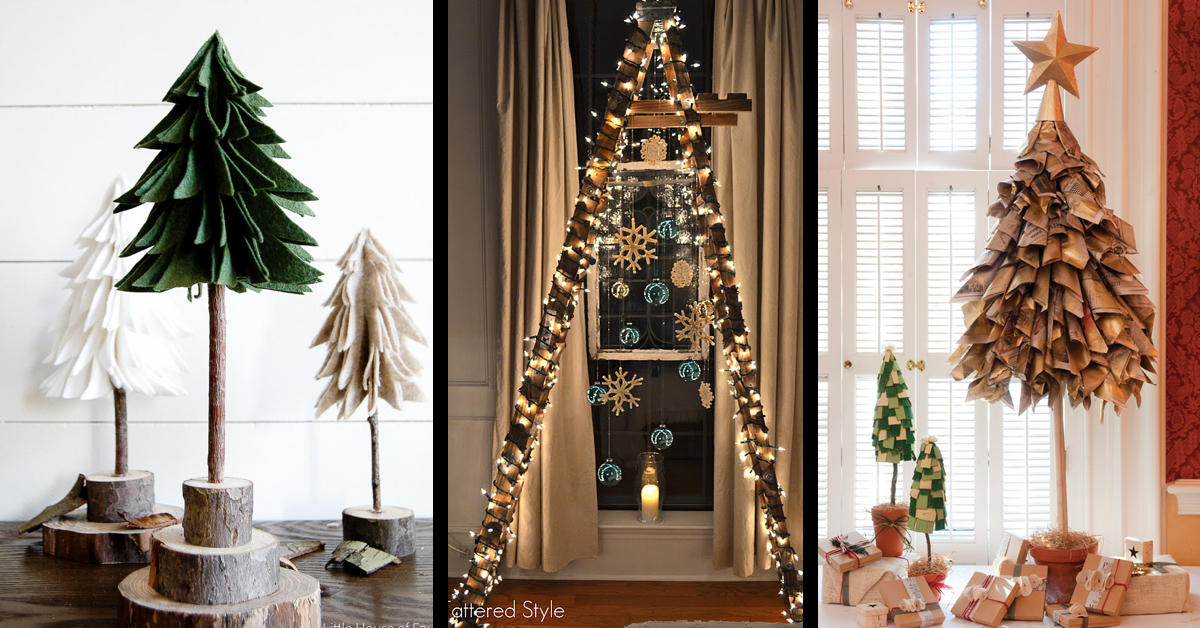 30 Diy Christmas Tree Ideas To Go A Little Unconventional