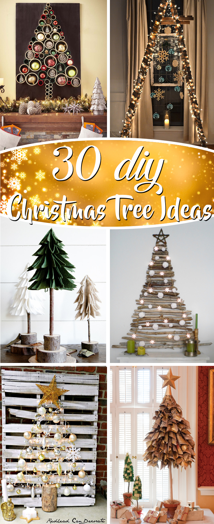 30 Diy Christmas Tree Ideas To Go A Little Unconventional This Year Cute Diy Projects