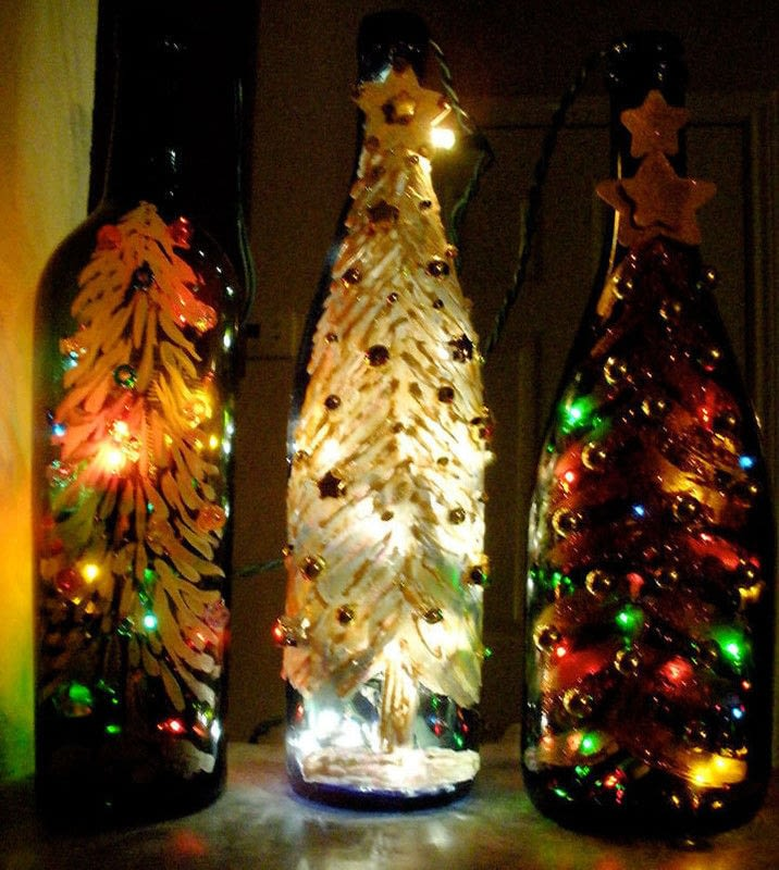 Christmas Wine Bottle Lights