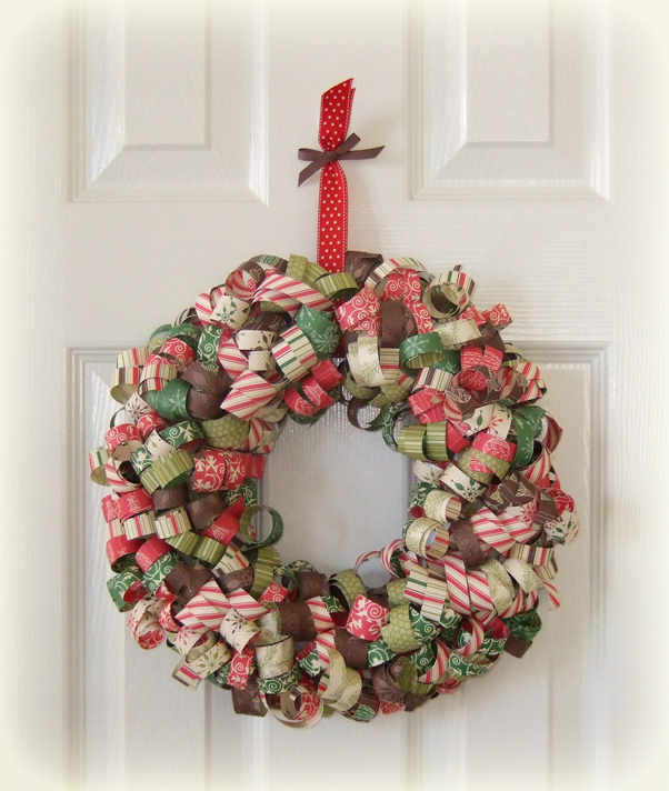 Curly Paper Christmas Wreath