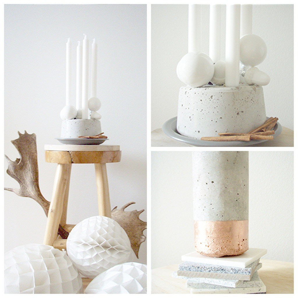 DIY Concrete Votive
