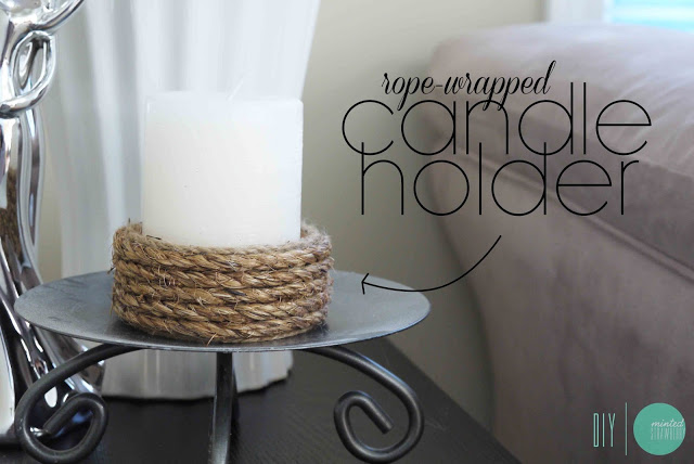 DIY: Easy Rope-Wrapped Candle Holder