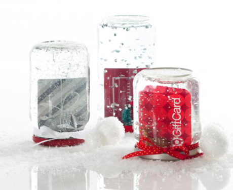 DIY Gift Card Snow Globes