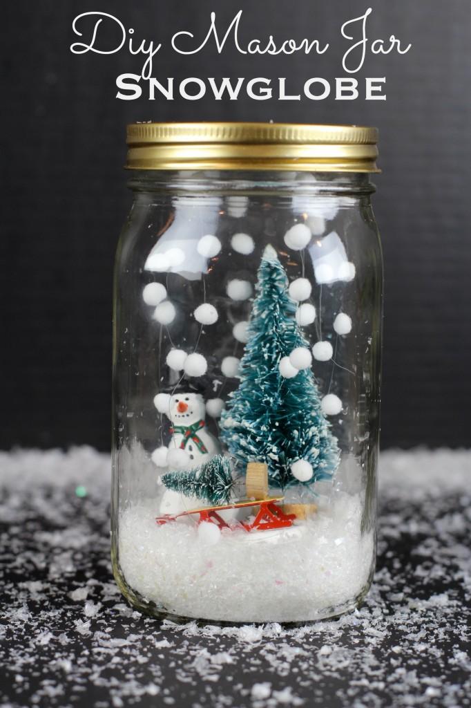 DIY Mason Jar Snowglobe