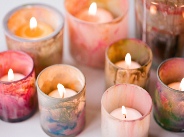 DIY Painted Votive