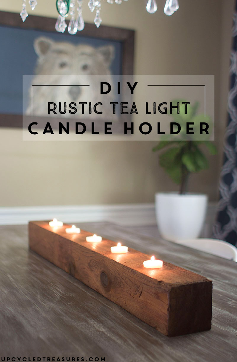 DIY Rustic Tea Light Candle Holder