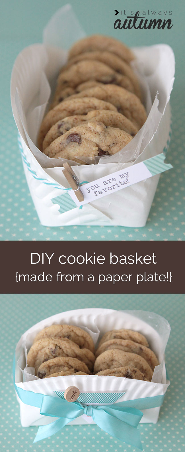 Easy DIY Cookie Basket With Paper Plate