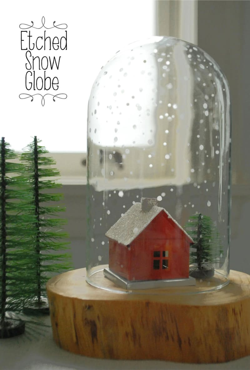 Etched Snow Globe