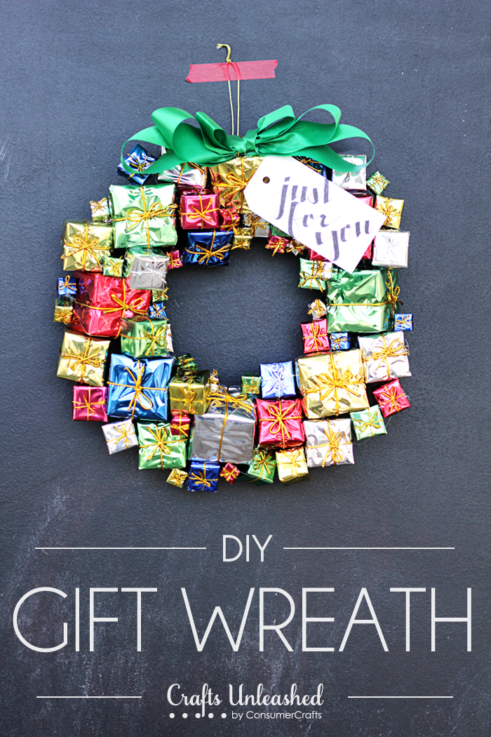 Gift Box Christmas Wreath
