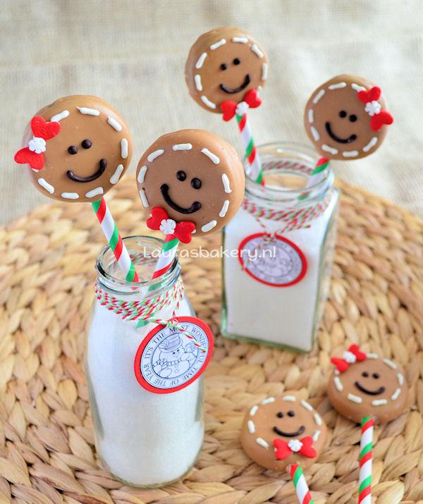 Gingerbread Man Oreo Pops