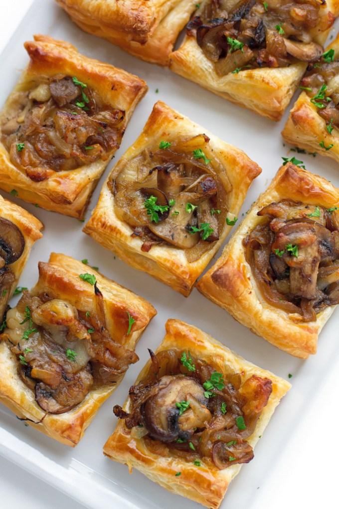 Gruyere Mushroom Caramelized Onion Bites