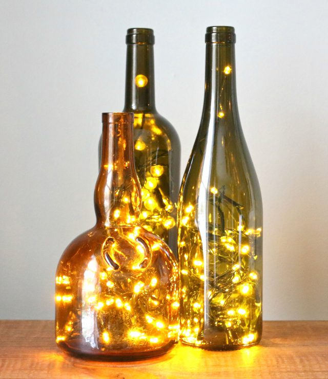 20 wine bottle christmas crafts to go for a festive decor