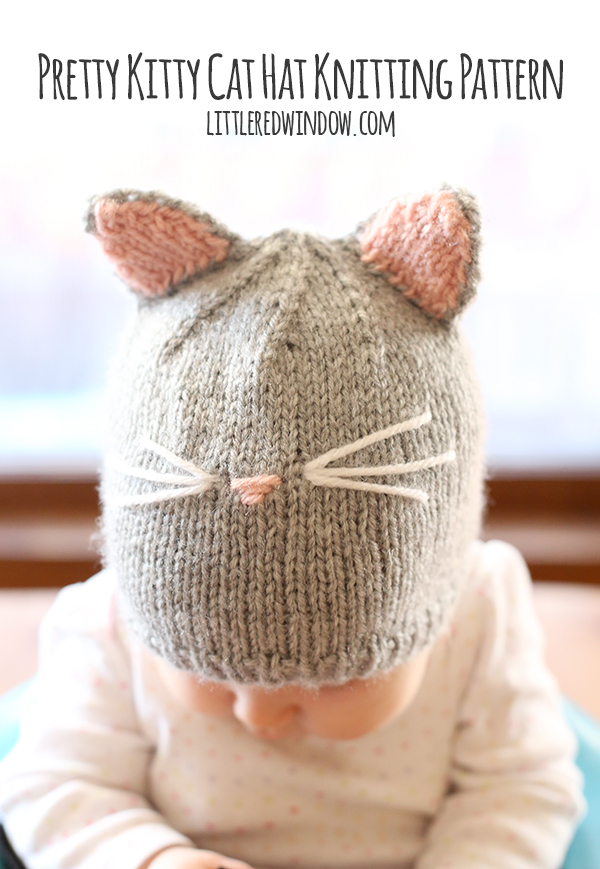 Knitting Pattern For Kitty Hat : 25 Incredibly Easy & Awesome Knitting Projects   Cute DIY ...