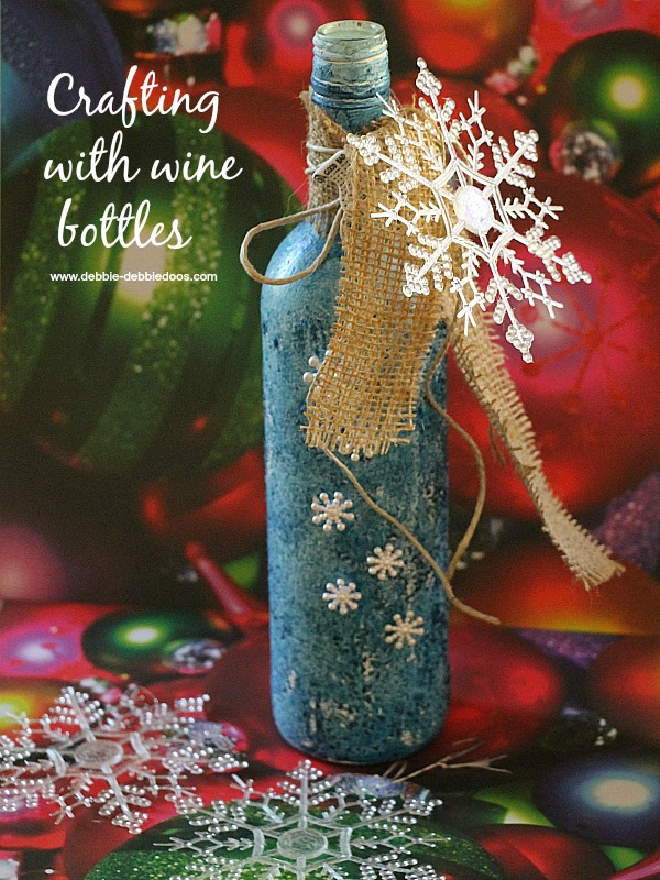 Recycled Wine Bottle Christmas Craft Idea