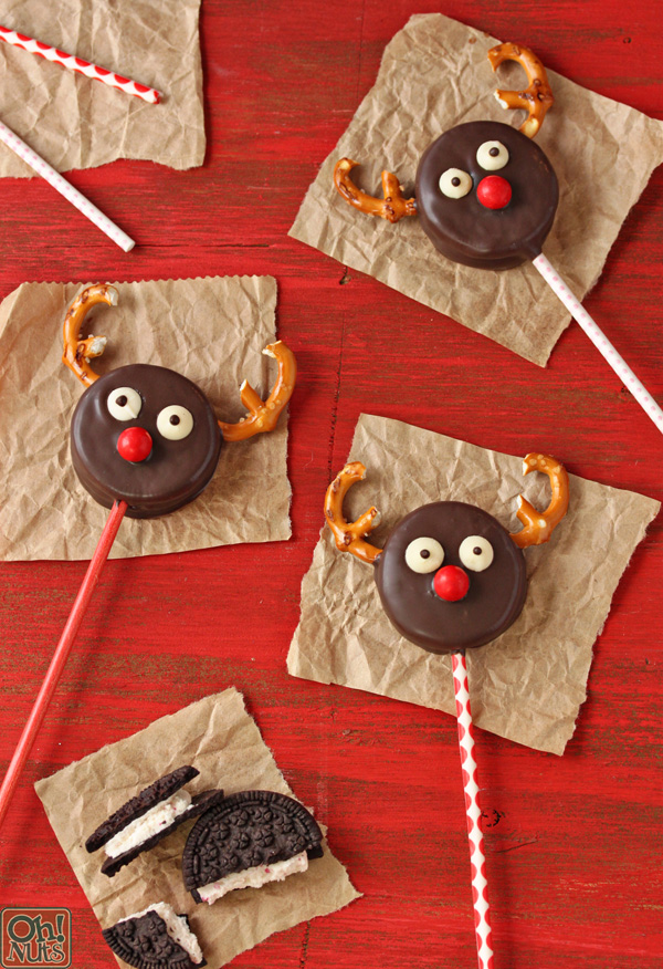 Reindeer Oreo Cookie Pops
