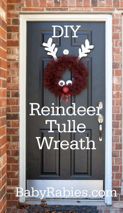 Rudolph The Reindeer Tulle Wreath