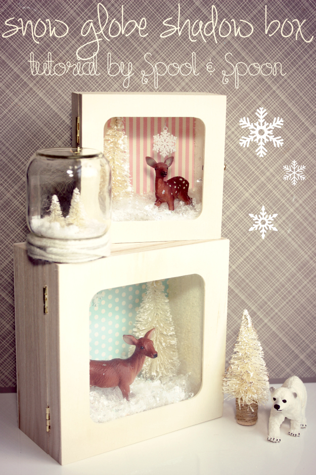 Snow Globe Shadow Box