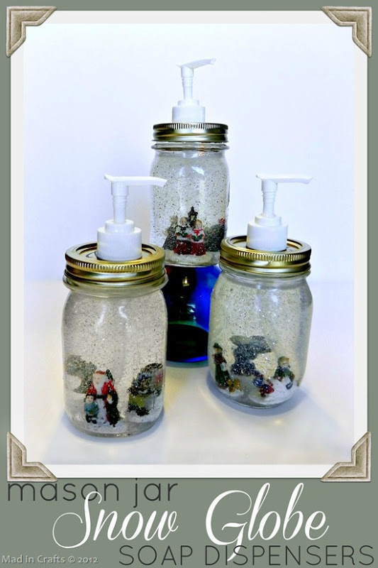 Snow Globe Soap Dispensers