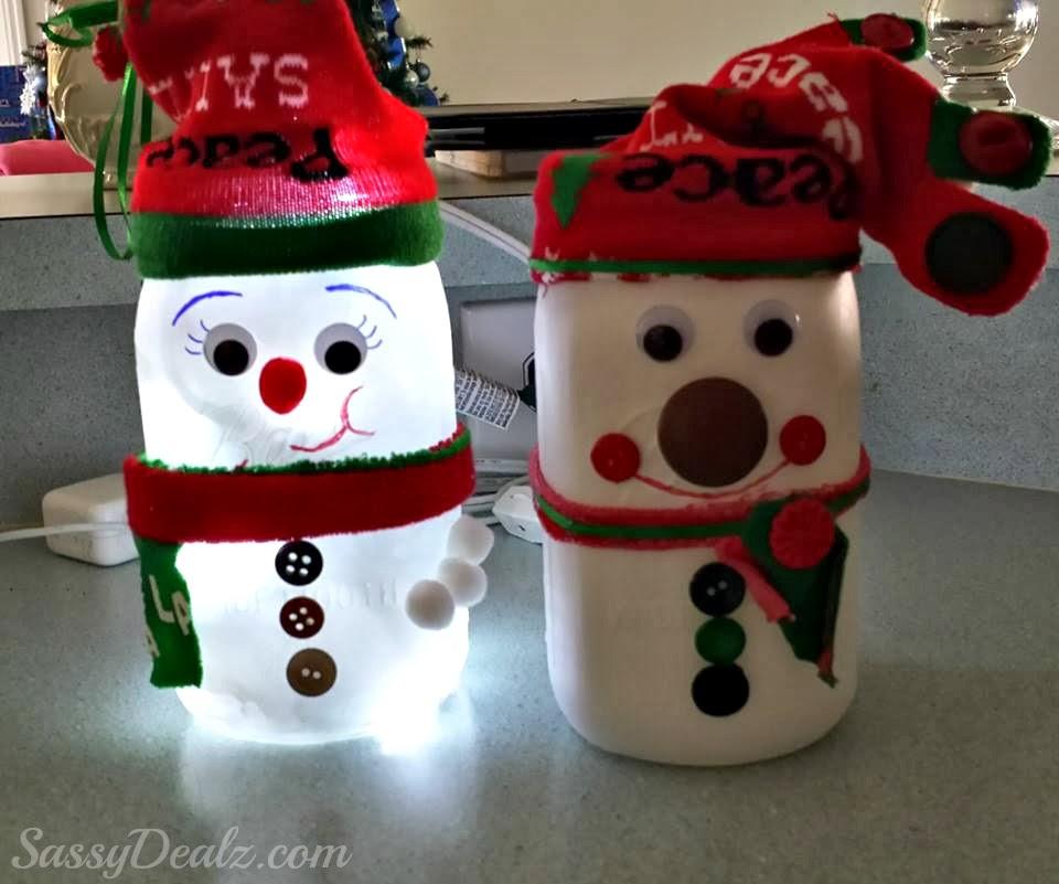 Snowman Mason Gift Jar