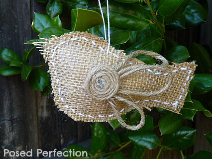 Burlap Bird Ornaments