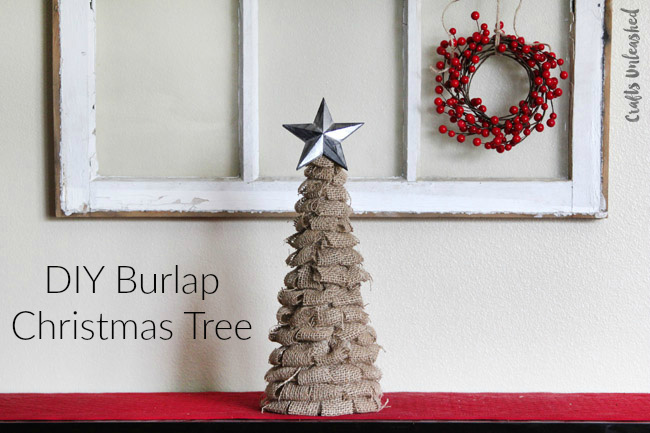 Burlap DIY Christmas Tree