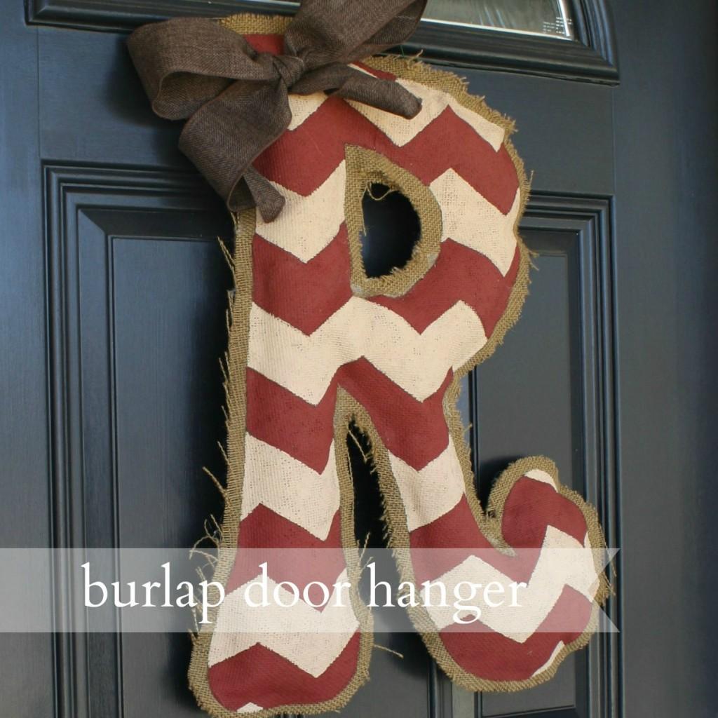 Burlap Door Hanger