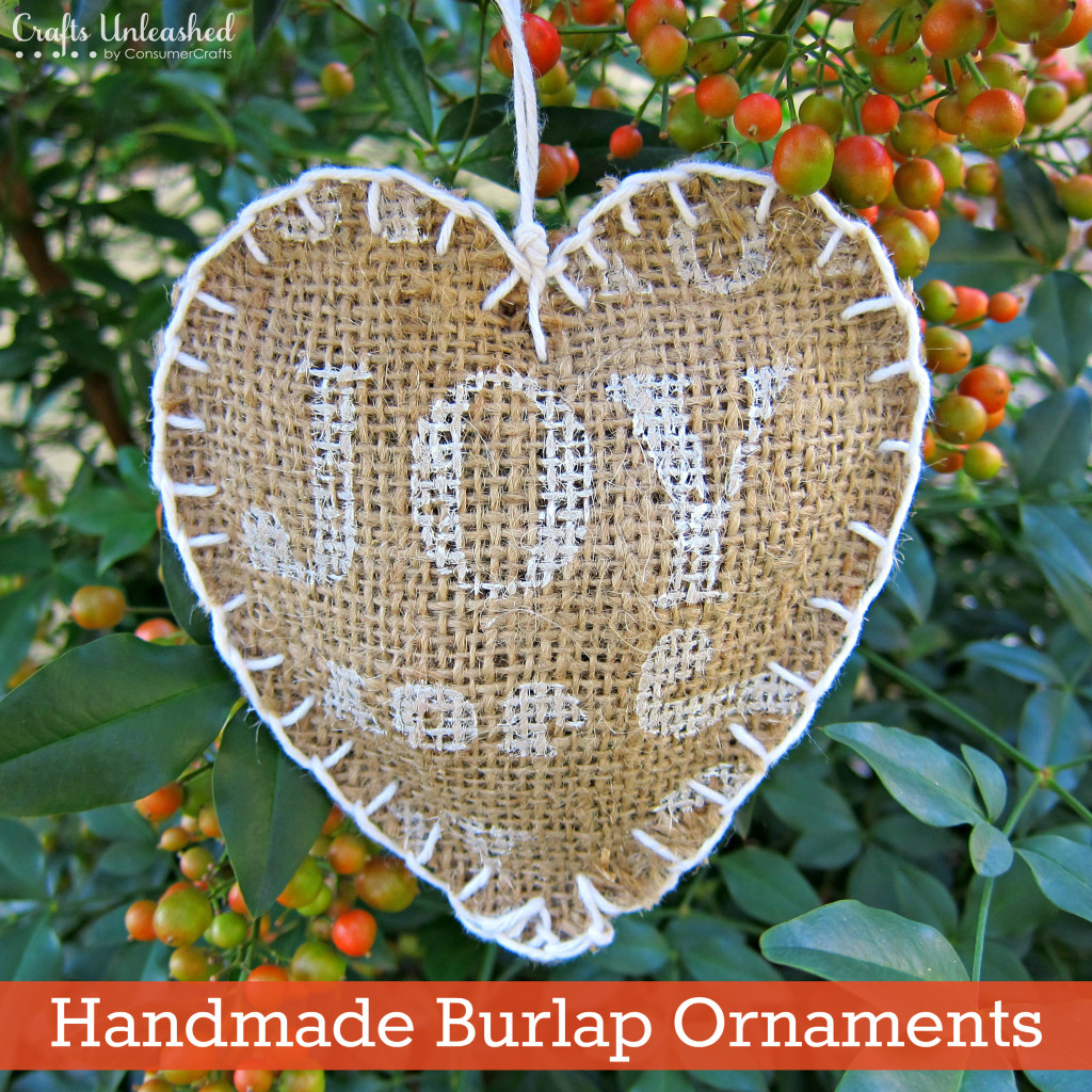 Burlap Homemade Ornaments