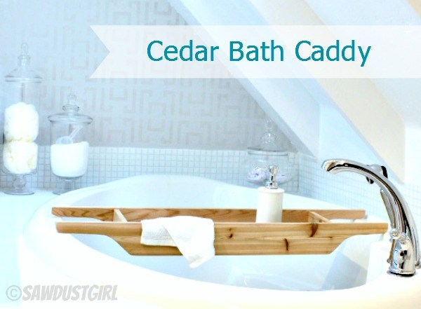 Cedar Bathtub Caddy
