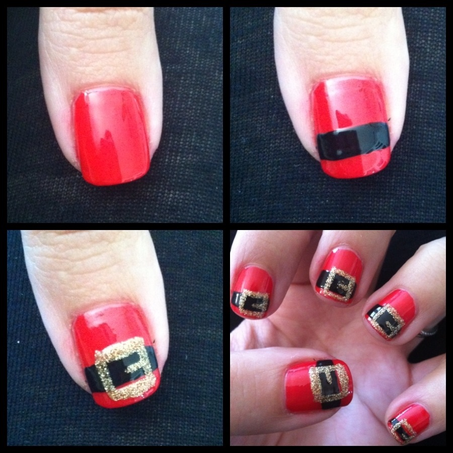 Diy christmas nail designs best nails 2018 26 awe inspiring christmas nail tutorials to bedazzle the festival prinsesfo Image collections